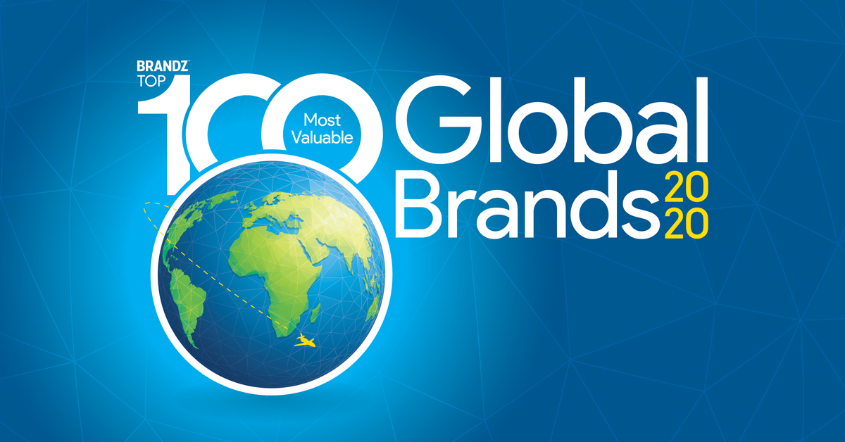 Brandz Top 100 Most Valuable Global Brands 2020 Banner Link