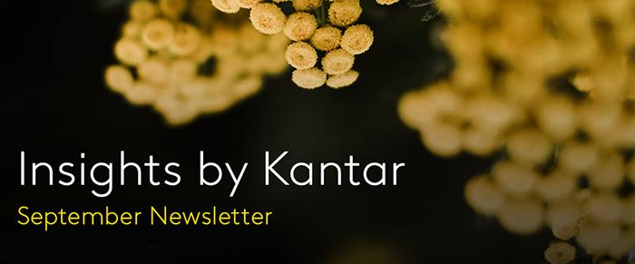 Insight by Kantar Australia September Newsletter Banner